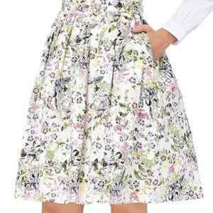 Grace Karin Pleated Vintage Floral Skirt XL